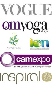 Katie Clare Nutritional therapist BANT, inSpiral, ION, Cytoplan, Cam Expo, Vogue, Om Yoga