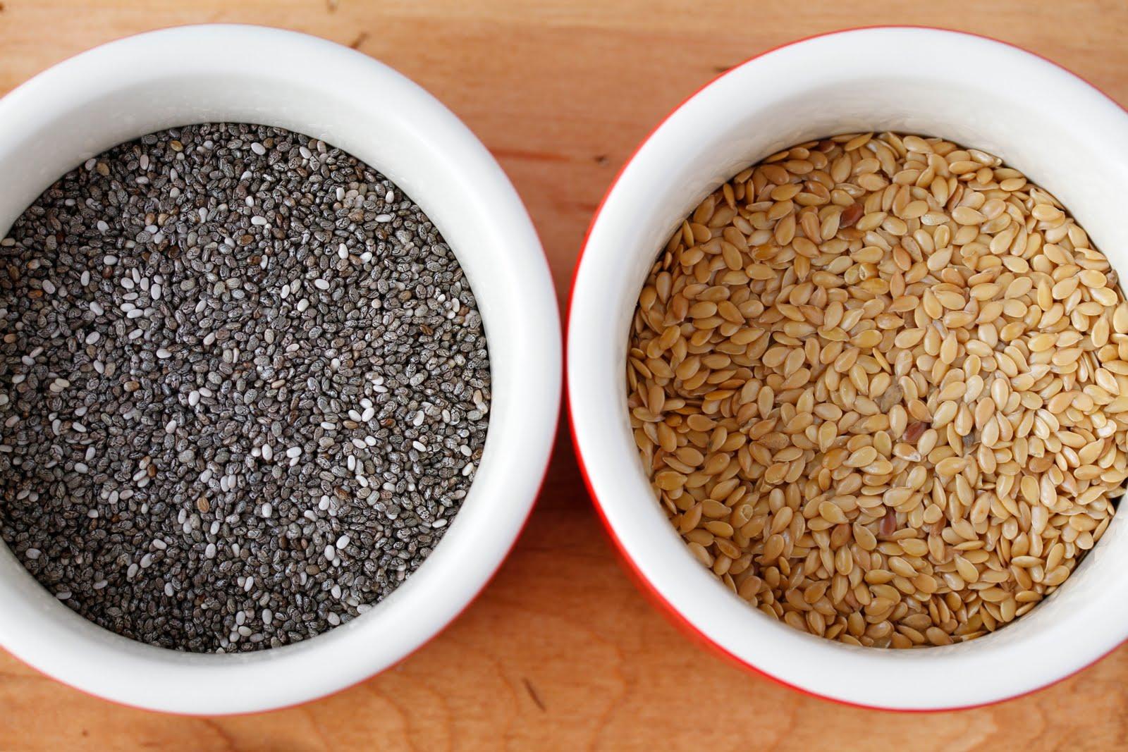 Chia seeds flax seeds