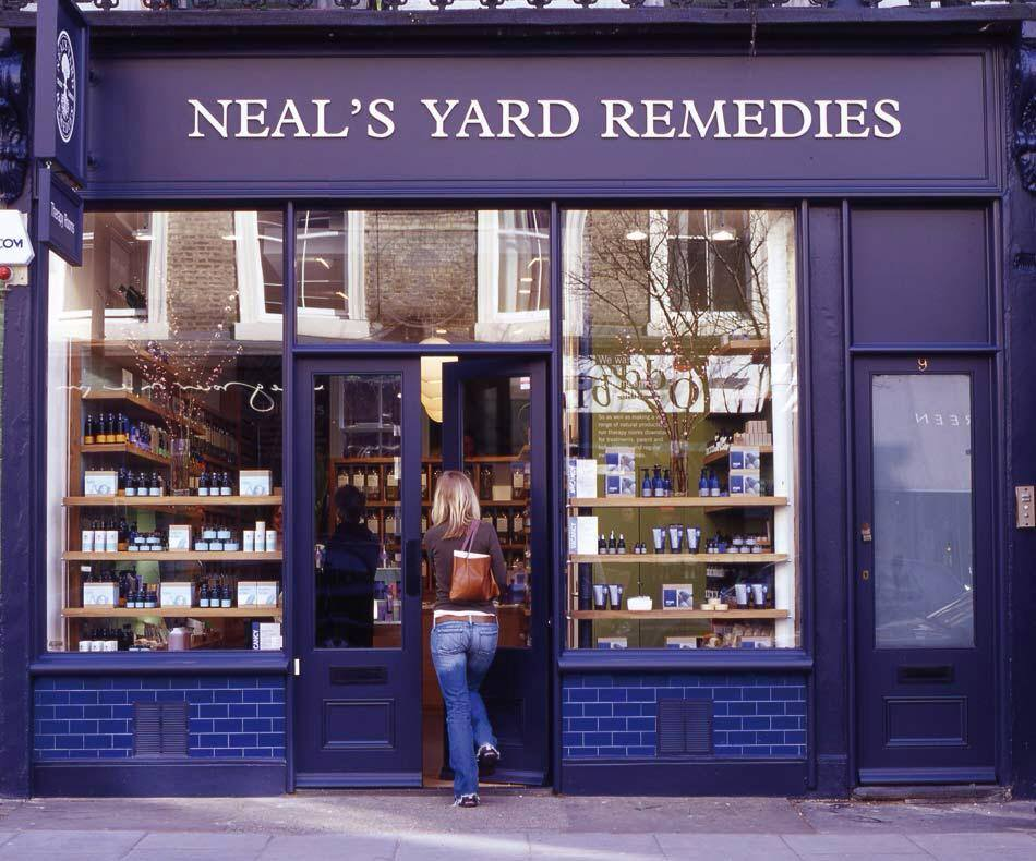 neal's yard rememdies, organic, therapy rooms, nutritional therapy, islington